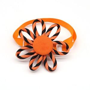 Image 2 - 100pcs 2019 New Spring Pet Supplies Sun flower Pet Dog Cat Bowties Neckties Samll dog Cat holiday Grooming Accessories