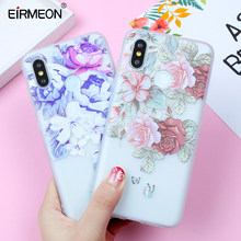 EIRMEON Case For Xiaomi Redmi S2 Case Note 4X Redmi 4X 4A Note 5A 6 Pro Cases For Xiaomi 5X Mi A1 8 SE TPU Relief Flowers Cover(China)