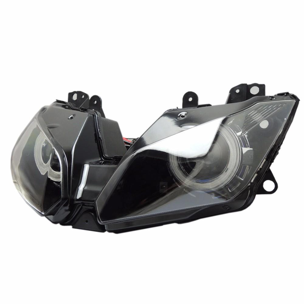 2013-2016 Ninja250 Ninja300 ZX6R Angel Eye HID Projector Custom Headlight Assembly for Kawasaki Ninja 300 ZX-6R 2013-2016 (11)