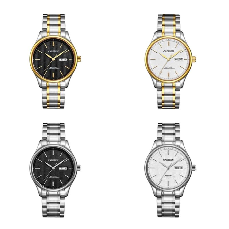 CADISEN Top Brand Luxury Watch Men Fashion Stainless Steel Watches Men's Casual  Automatic Mechanical Wristwatch Waterproof 50M