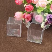 Boîte carrée en plastique en PVC 100 pièces, boîtes de rangement transparentes pour coffrets cadeaux, mariage/outil/nourriture/bijoux, présentation demballages, bricolage