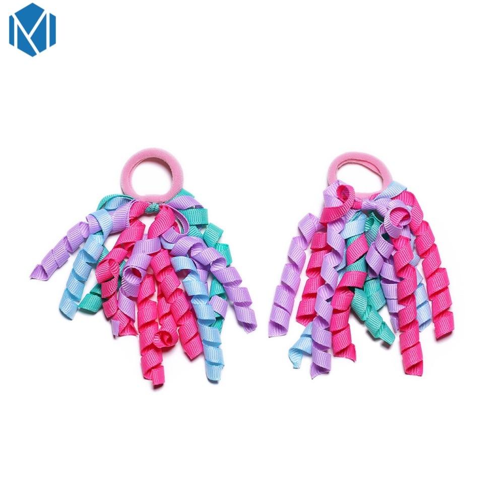 1 Paar Zoete Elastische Elastiekjes Kids Kleurrijke Haar Scrunchies Kinderen Gum Hair Ties Rope Paardenstaart Houders Haaraccessoires Met Traditionele Methoden