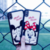 Luxury Acrylic Minnie Mickey Mouse Mirror Cases for iPhone X Case luxury Brand Soft TPU Silicone Cute Cartoon Phone Cover