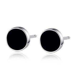 925 sterling silver earrings Korean black earrings for men ...