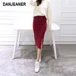 DANJEANER Summer Pencil Skirts Women Long Skirt Waist