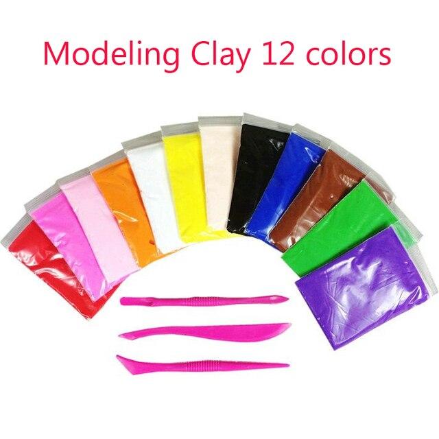 Свет мягкий магнитный polymer clay моделирования волшебный plastilina воздуха сухой шлам пластилин play set слизь foam clay 12 цвета playdough