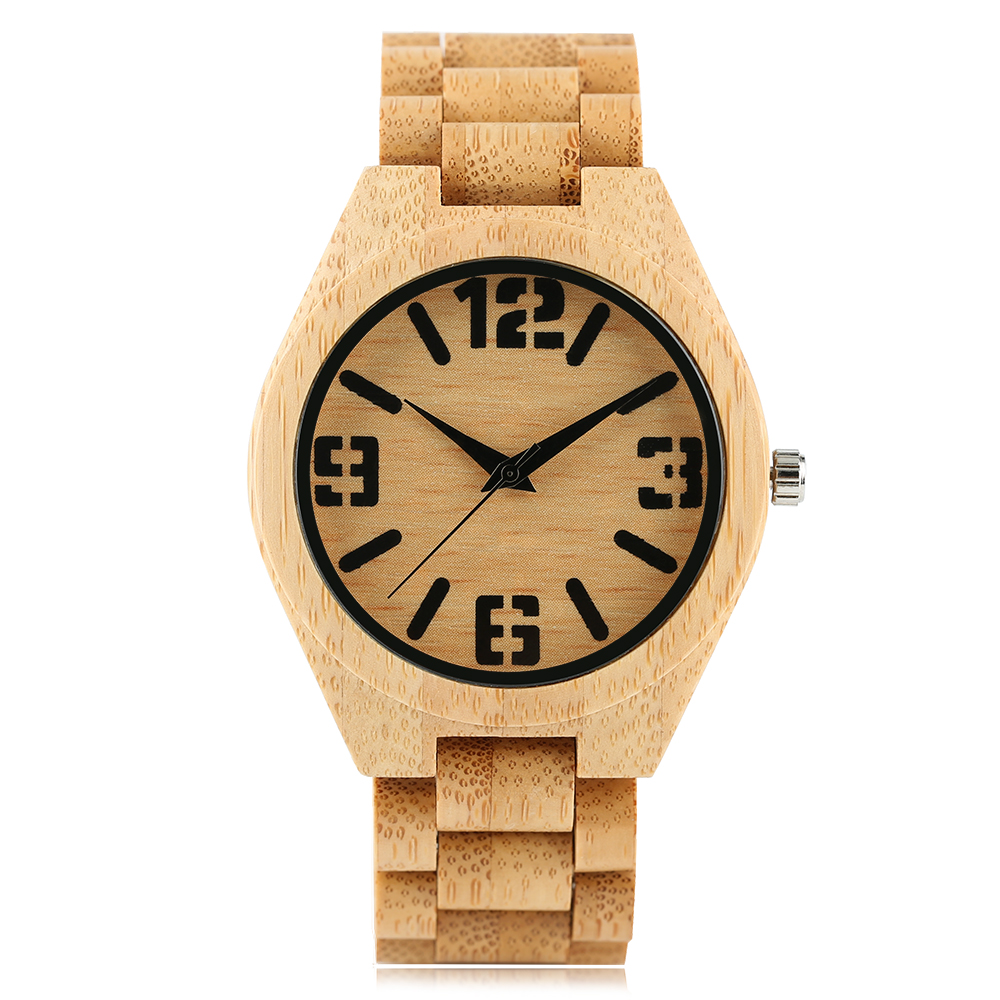 YISUYA Simple Fold Clasp Quartz Wristwatch Handmade Bamboo Analog Women Creative Watches Men Bangle Nature Wood Relogio Gift 2017 new arrival hand made full bamboo design quartz wristwatch bracelet clasp green beige dial simple casual male watch gift