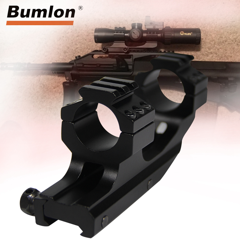 """High Quality Tactical 1/""""25.4mm Cantilever Rifle Scope Mount Rail Ring Picatinny*"""