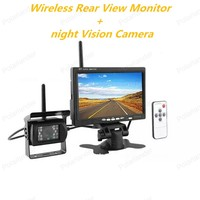 In Dash 7 inch TFT LCD Wireless Monitor with CMOS IR Night Vision Backup Camera Kit for 24V Truck Coach Bus