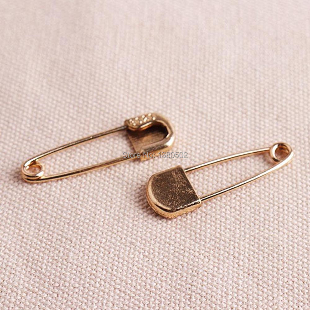 30pcs/lot 35mm metal gold color high quality Safety Pins Brooch Sewing tool