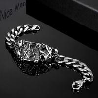 Men cool vintage bangels H029 Fashion 316L stainless steel bracelet for man 5