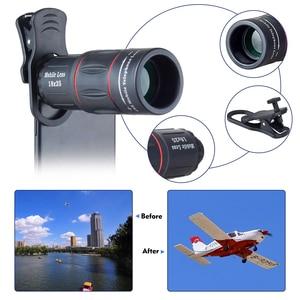 Image 4 - Apexel 18x 줌 렌즈 스마트 폰용 원거리 휴대 전화 렌즈 범용 iphone xiaomi redmi samsung telefon 카메라 렌즈