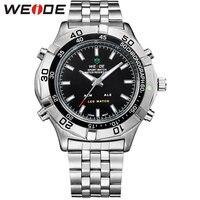 WEIDE High Quality Watch Men Luxury Brand Quartz Movement LED Analog Digital Display Fashion 30m Waterproof