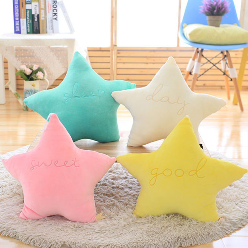 Nooer Soft Cute Star Moon Plush Pillow Toy Stuffed Plush Star Cushion Home Decor Baby Toy Birthday Children Kids Girl Gift mymei pokemon pokeball go ultra soft pillow decor pillow soft plush doll