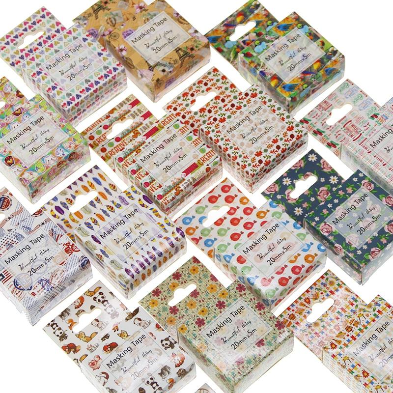 1pcs Washi Tape Decorative Scotch Tape Decorative Tapes Scrapbook Paper Masking Sticker Set Photo Album Washi Tape Set 20mm*5m bulk christmas trees washi tape set of 12pcs fun versatile and decorative craft tape card making