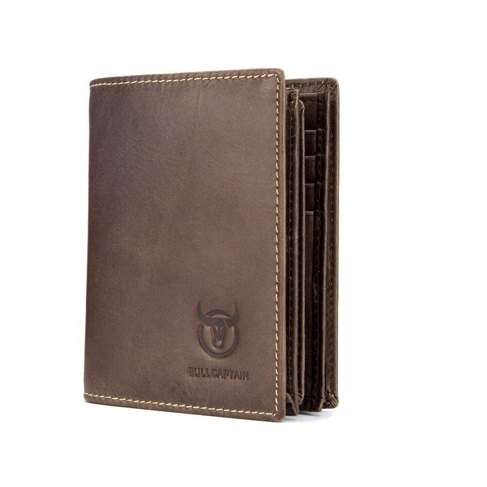 BULLCAPTAIN RFID New Arrival Men Wallet Cowhide Coin Purse Designer Brand Wallet clutch Cow Leather wallet man wallet for money Кошелёк