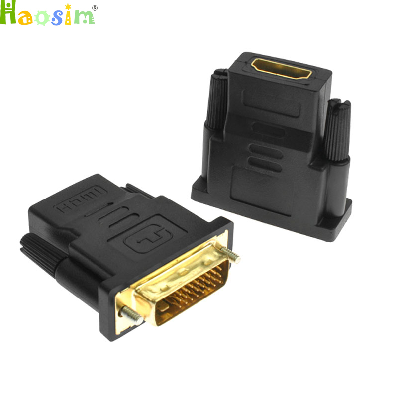 DVI 24+1 Male To HDMI Female Converter HDMI To DVI Adapter Support 1080P For HDTV LCD