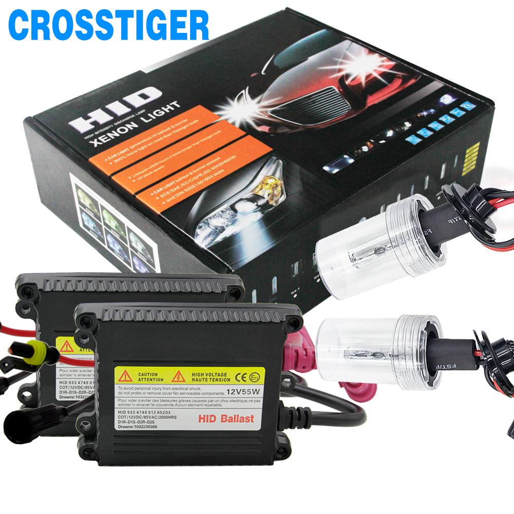 55W Xenon Light Bulb Kit HID Conversion Kit H1 H3 H11 9006 9005 9004 9007 880 H13 H4 Car Headlight Bulb 3000k 4300k 6000k 12000k