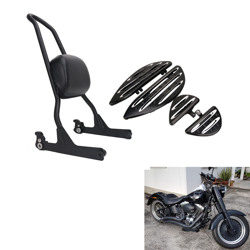 Footpeg Floorboard Shifter Brake Lever Luggage Rack Sissy Bar Backrest for Harley Electra Glide Road King Fatboy FLH FLS FLT #ZU partol black car roof rack cross bars roof luggage carrier cargo boxes bike rack 45kg 100lbs for honda pilot 2013 2014 2015