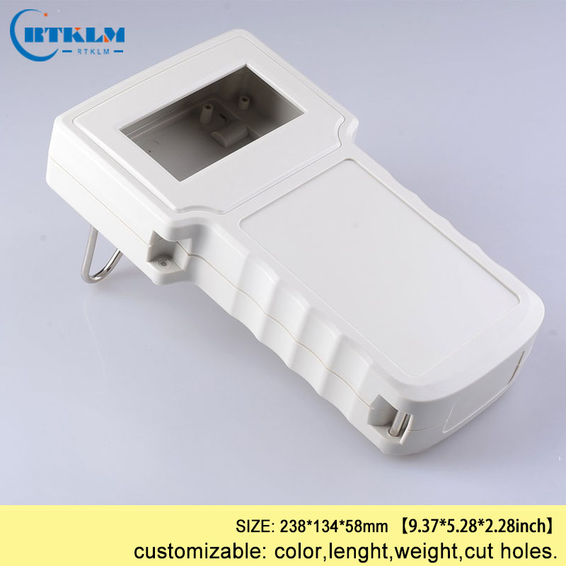 Handheld project enclosure box custom plastic electronic junction box ABS plastic enclosure handheld housing box 238*134*58mm