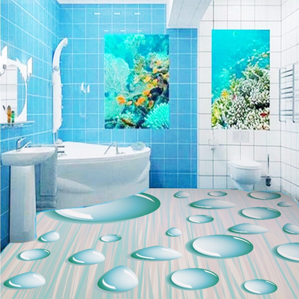 Free Shipping custom Bathroom kitchen studio fresh 3D water droplets ...