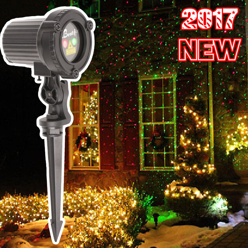 2017 Star Christmas Lights Outdoor Laser Projector Showers Christmas Tree Light Holiday Decorations for Home 2017 sale real christmas tree christmas gift christmas decorations for home new blue festival wedding hotel led light h003 2