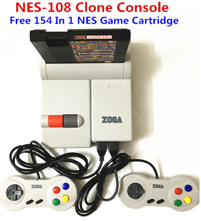 High quality TV Video Clone Game ConsoleFor Retro Games with 72 Pin Cartridge Slot 2 Wired  Free 154 In 1 Game Cartridge 8 bit retro game cartridge 150 in 1 with rockman ninja turtles contra kirby s adventure