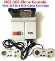 NES-108 Consola Clon, envío 154 En 1 de NES Cartucho de Juego