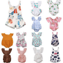 Cute Newborn Infant Kids Baby Boy Girl White Bodysuit Jumpsuit Clothes Outfits