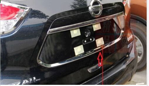 Chrome Molding Rear Trunk Lid Trim Cover for Nissan NEW X trail T32 2014 2015 2014 2015 for nissan rogue x trail rear tail licence plate cover trim trunk frame cover trim chrome