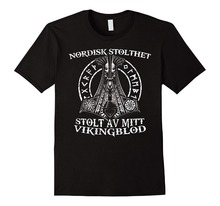 2019 New Fashion Brand Clothing Viking Blood Valhalla Nordic Norse Mythology T Shirt  Printing