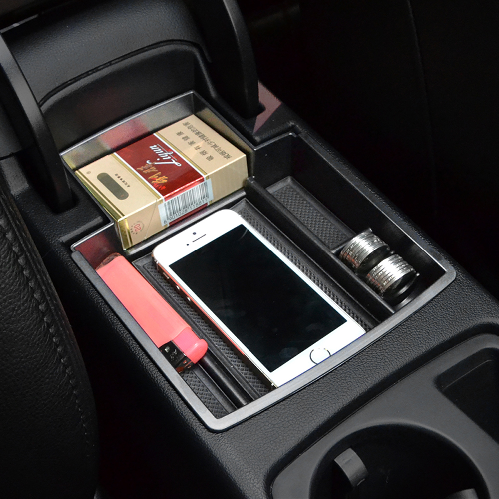 For Audi A4 B8 A5 S5 2009 2016 Central Armrest Storage Box Container Holder Tray Car Organizer Accessories Car Styling-in Car Stickers from Automobiles & Motorcycles