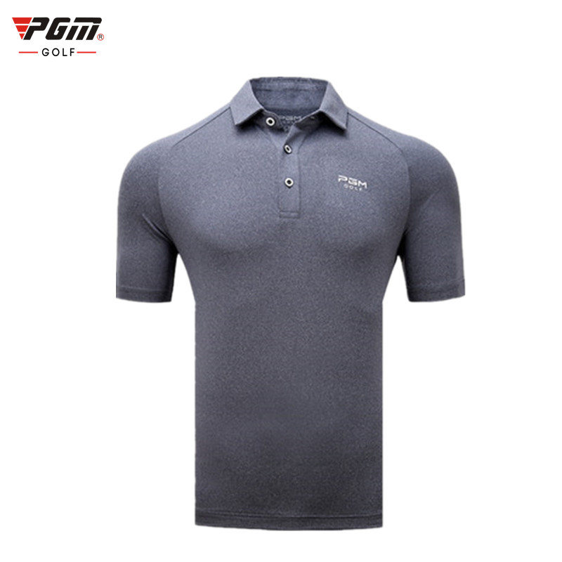 PGM authentic golf apparel summer breathable sports ball clothing quick-drying fabric mens short-sleeved T-shirt