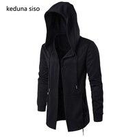 Black Hoodie Men Hooded Mantle Assassin Creed Clothing M 5XL Hoodies Hip Hop Sweatshirt Outerwear Jackets