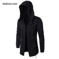 Black Hoodie Men Hooded Mantle Assassin Creed Clothing M 5XL Hoodies Hip Hop Sweatshirt Outerwear Jackets