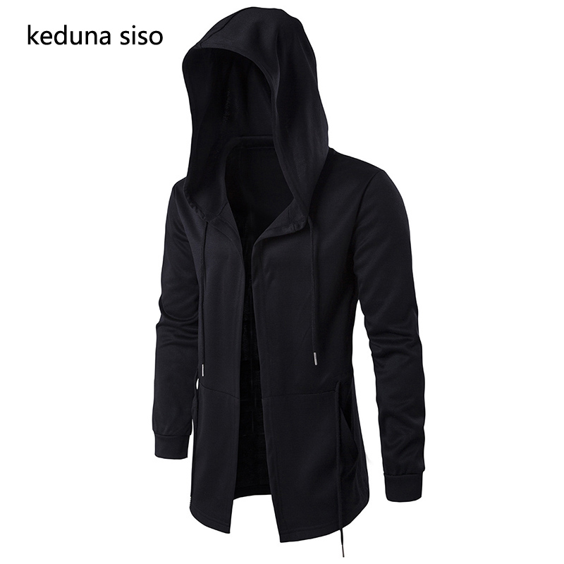 Hoodies Men Black Cardigan Hoodie Men Hooded Mantle Assassin Creed Clothing Cloak Hoodies Outerwear Jacket Moleton Masculino