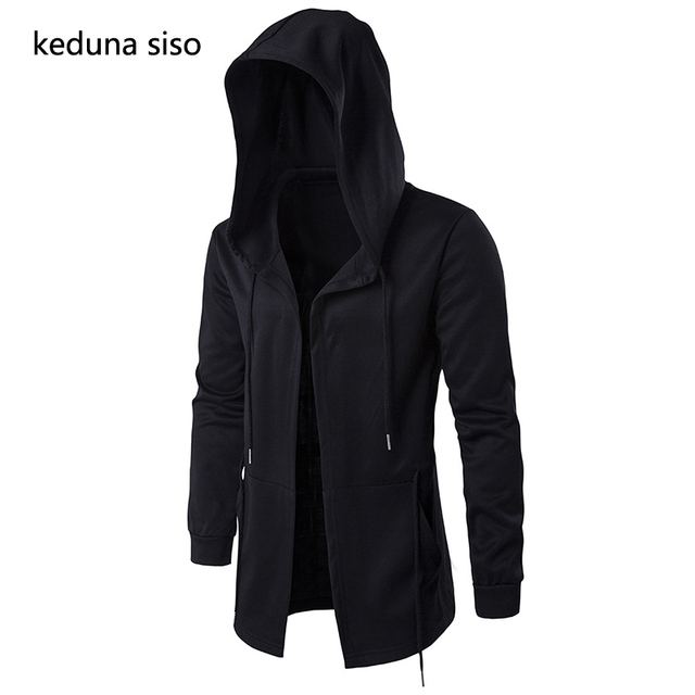 Without zipper Black Cardigan Hoodie Men Hooded Mantle Assassin Creed Clothing M-5XL Hoodies Outerwear Jackets polerones hombre