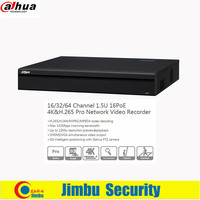 Dahua 16CH 1 5U 16PoE 4K H 265 Pro H 265 H 264 Network Video Recorder