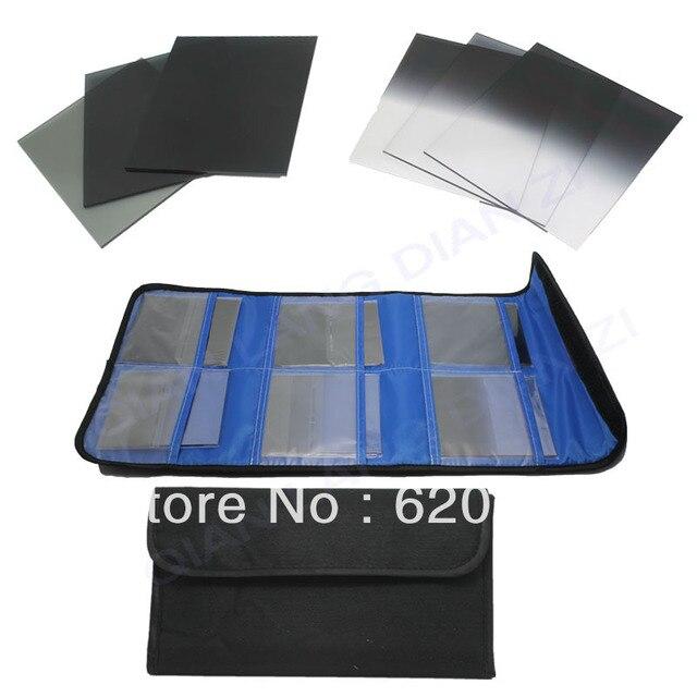 100% GUARANTEE10x   6pcs Graduated Neutral Density ND 2 4 8  Color filter set for Cokin P Series Camera