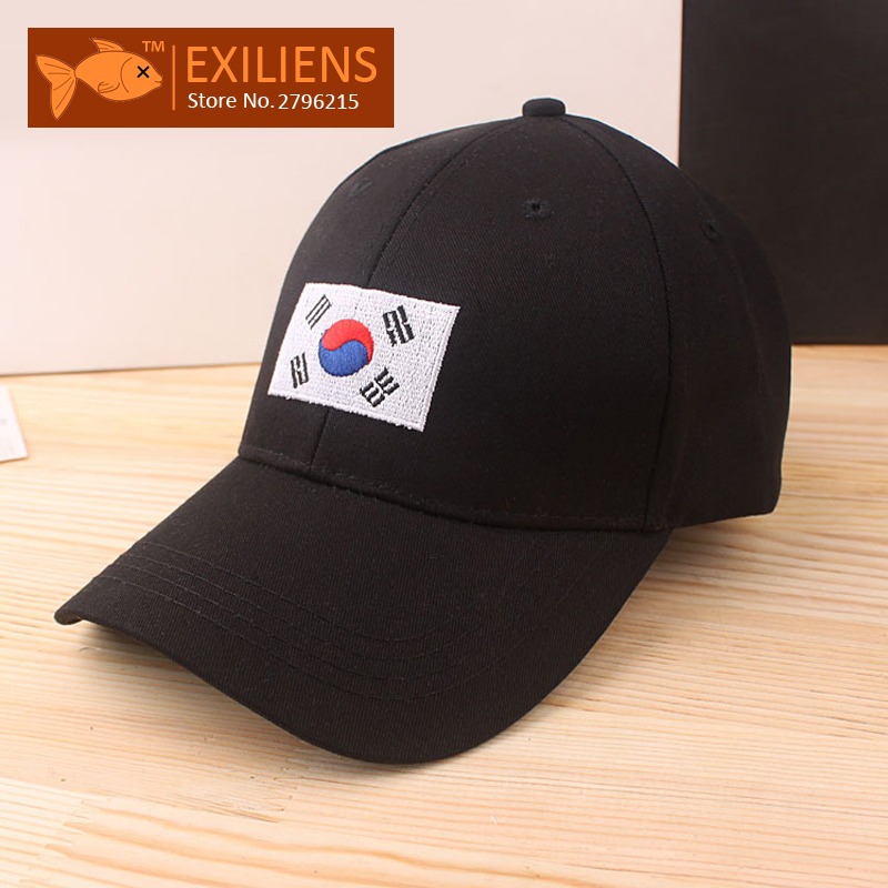 [EXILIENS] Brand Baseball Cap Cotton Korea Flag Stranger Things Snapback Caps Bone Casquette Hip hop Hats For Men Women Dad Hat brand nuzada snapback summer baseball caps for men women fashion personality polyester cotton printing pattern cap hip hop hats