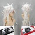 Высокое качество лохматый слоистых укладки джирайя серебристо-серый парик наруто синтетический волосы аниме косплей парики