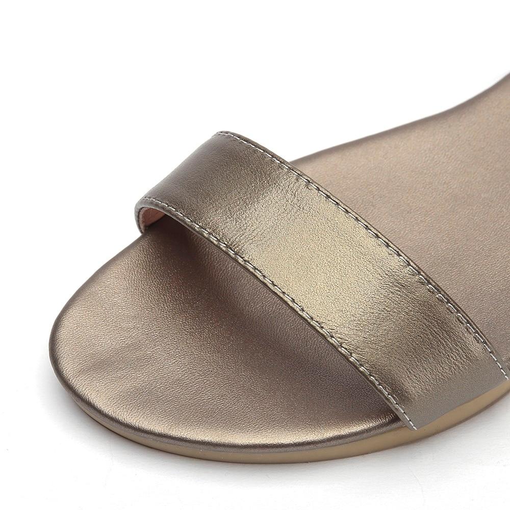 MORAZORA Plus size 34-46 New genuine leather sandals women shoes fashion flat sandals cow leather summer rhinestone ladies shoes