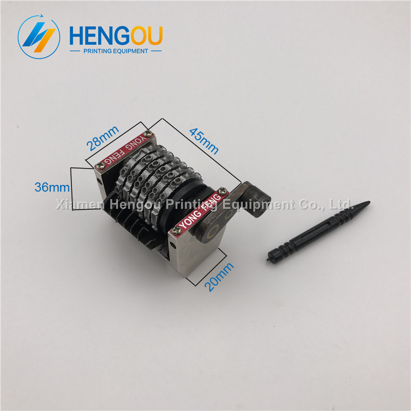 4 Piece China post free shipping GTO numerator 6 digits backward 654321 numbering machine 2 pcs horizontal plus 2 pcs vertical 2 pcs 15mmx13mmx1000mm 100