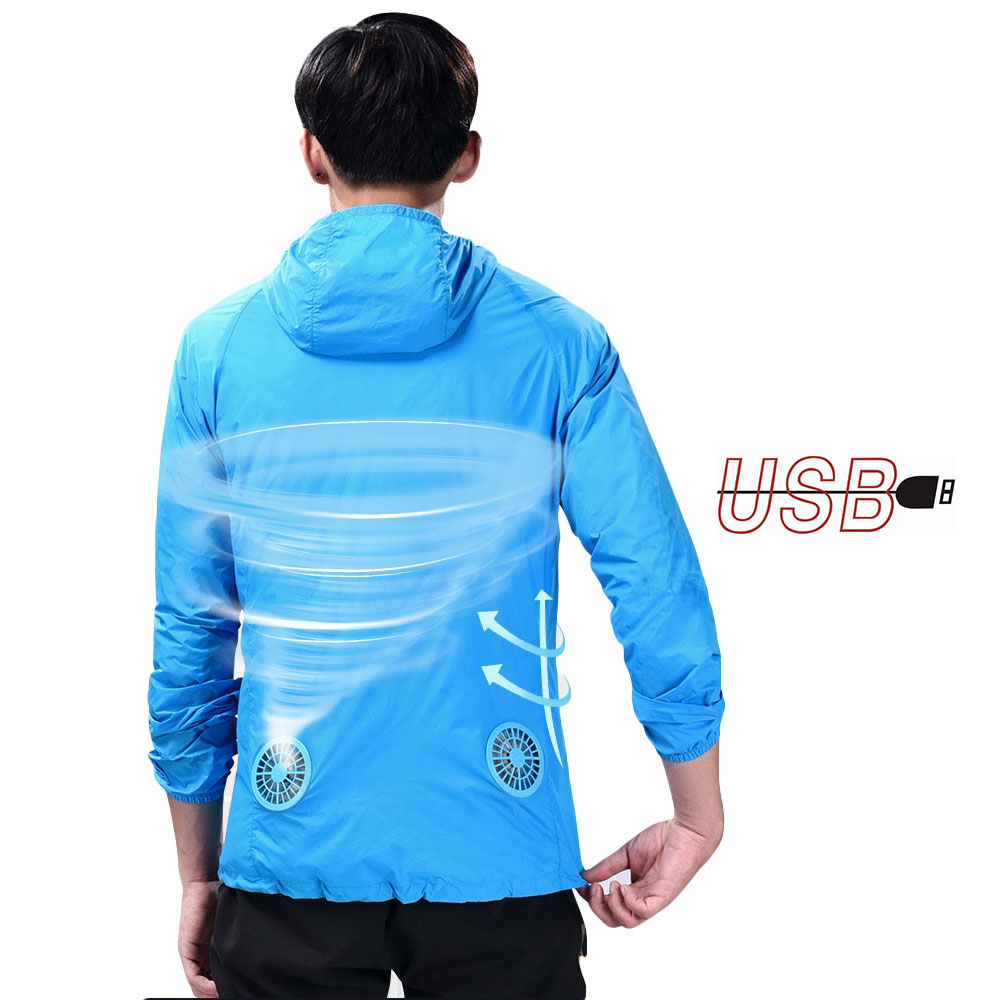 Fan Clothes Air Conditioning Cooling Jacket Summer Thin Style Outdoor Working Fishing Hunting Cooling Sun Protection Clothing