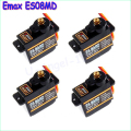 Free shipping 4x EMAX ES08MD Metal GEAR Digital Servo up sg90 ES08A ES08MA MG90S TREX 450
