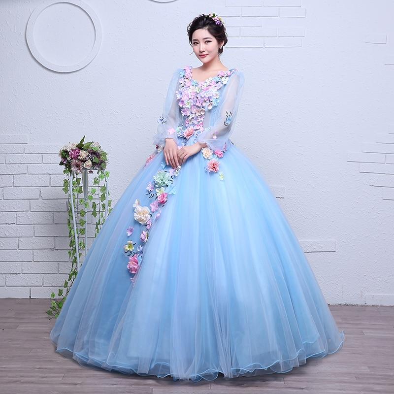 Real Photo Organza New Korean Style wedding dress 2017 New Long ...