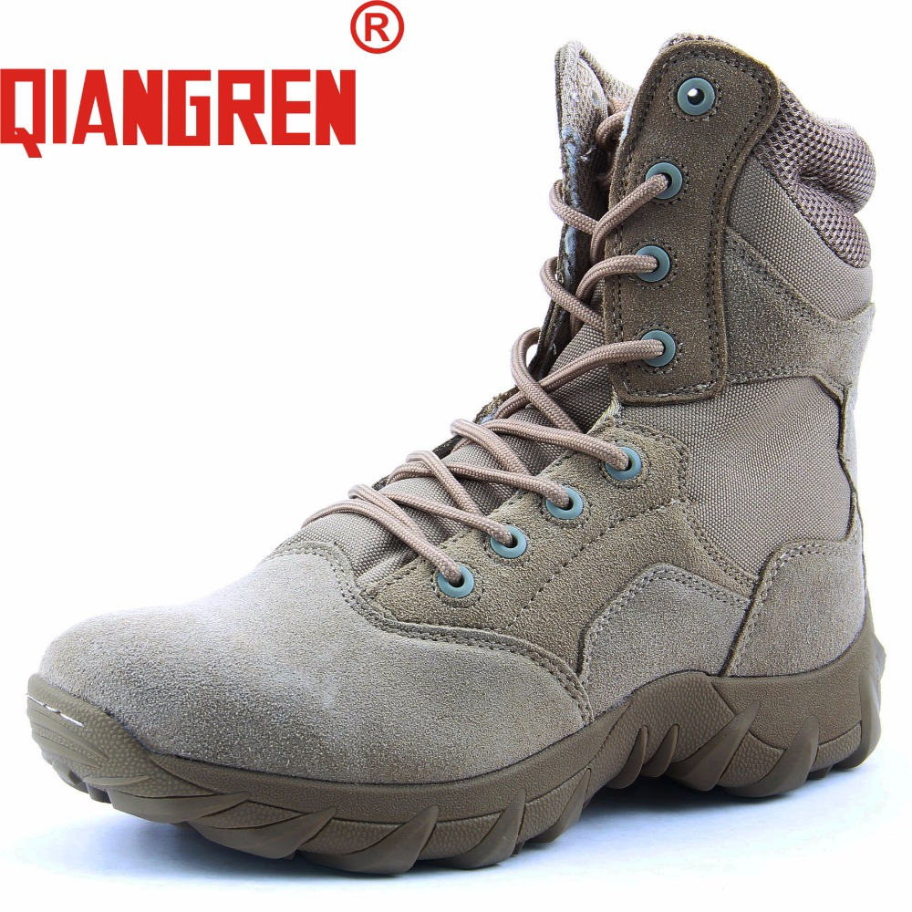 QIANGREN High-grade Quality Military Factory-Direct Men's Tactical Boats Cow Suede Militares Desert Boots Outdoors Botas Militar a low cost factory direct high grade high cycle life lithium polymer battery 801745