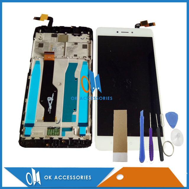 Black White Color For Xiaomi Redmi Note 4X Note 4 Global Version LCD Display+Touch Screen Digitizer With Frame With Tools Tape