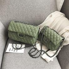 Luxury Brand Female Handbag 2019 Quality PU Leather Womens Designer Classic Lattice Chain Large Shoulder Messenger Bags