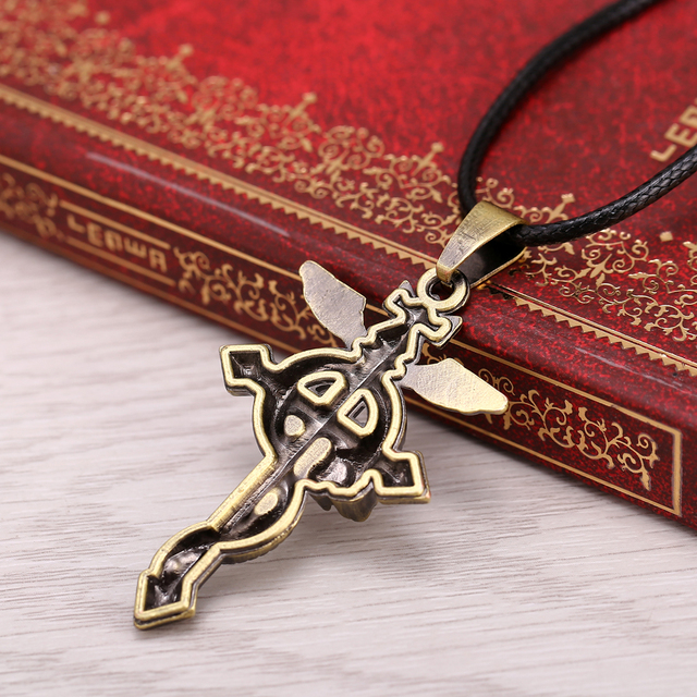 Anime Fullmetal Alchemist Bronze Metal Necklace Pendant